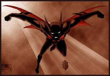 Batman Beyond III sephia by What-the-Gaff