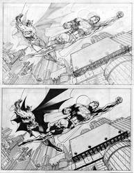 Jim Lee Supes and Bats by Splotchy77