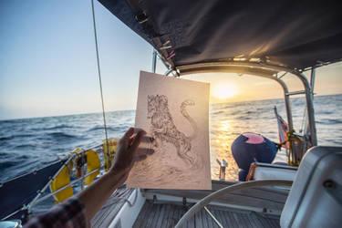 Atlantic Ocean Sketch Commission by Exileden
