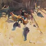 Hens by kalinatoneva