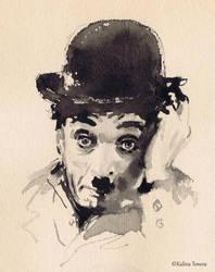 Charlie Chaplin by kalinatoneva