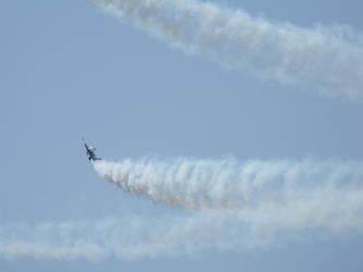 Jet in flight by dracodarkarma