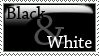 Black and White Stamp by Olivedrab