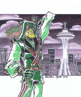 Green Arrow by MichaelOdomArt