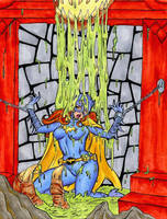 Batgirl in the Slime Pit by fischgeist