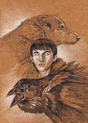 Bran PopCon Card Art by bookstoresue