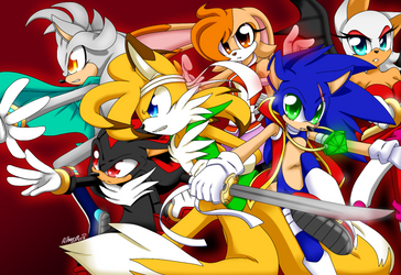 Sonic AU: Days of the Dead - Apocalypse Gang by AnimeSonic2