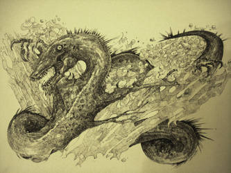 Water Flight Dragon: Pen by blackvragor