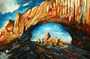 20x30 Arches National Park Commission by blackvragor