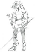 Elyse the Longsword Knight by lacan