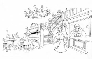 Phantom Manor's Saloon by Kaloo86