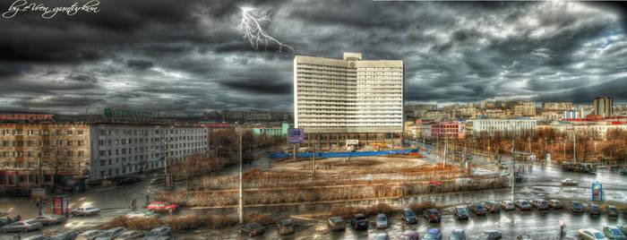 Murmansk - Russia Panorama HDR by evrengunturkun