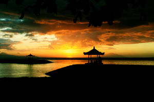 Sunrise at Karang Beach by edharu