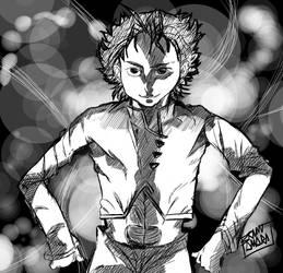 Boy that emanates light by Bokuwa