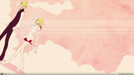 Shizuo + Vorona: Candy Clouds by angel-cesia