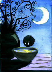 The moon in a cup by derBudaika