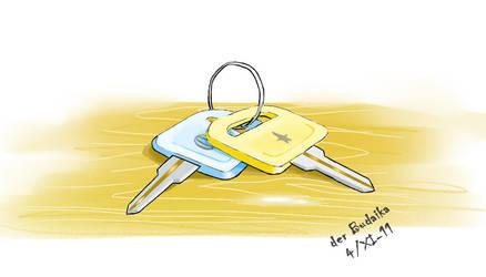 Two keys by derBudaika