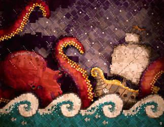 Kraken Mosaic by K-A-Y-O