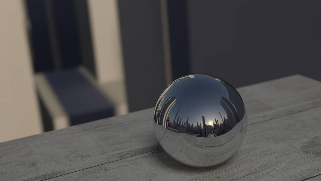 Mirroring-ball-reflection-mirror by Gejda