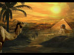 Egyptian land by Gejda