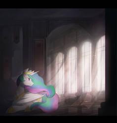 Princess Celestia. by Keponii
