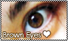 Brown eyes Stamp by GabieGaga91