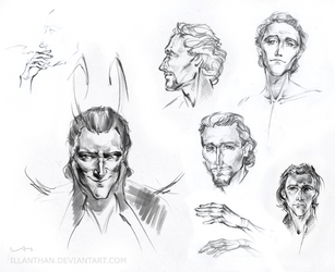 Hiddles sketches 2 by ILLanthan