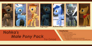 Male pony pack release by Poninnahka