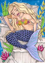 Sirene Endormie by RaxaMermaid