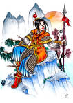Oriental Fantasy, Secret Santa Gift for Aoi Milk by RaxaMermaid