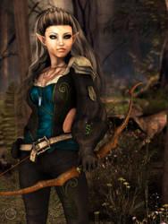 311-Tawariell the Archer by lyonesskim