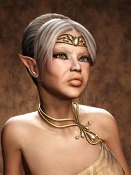 323 - Ora, Elven Matriarch by lyonesskim