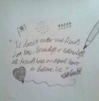Poem about Friendships by JoshGarciaArtworks