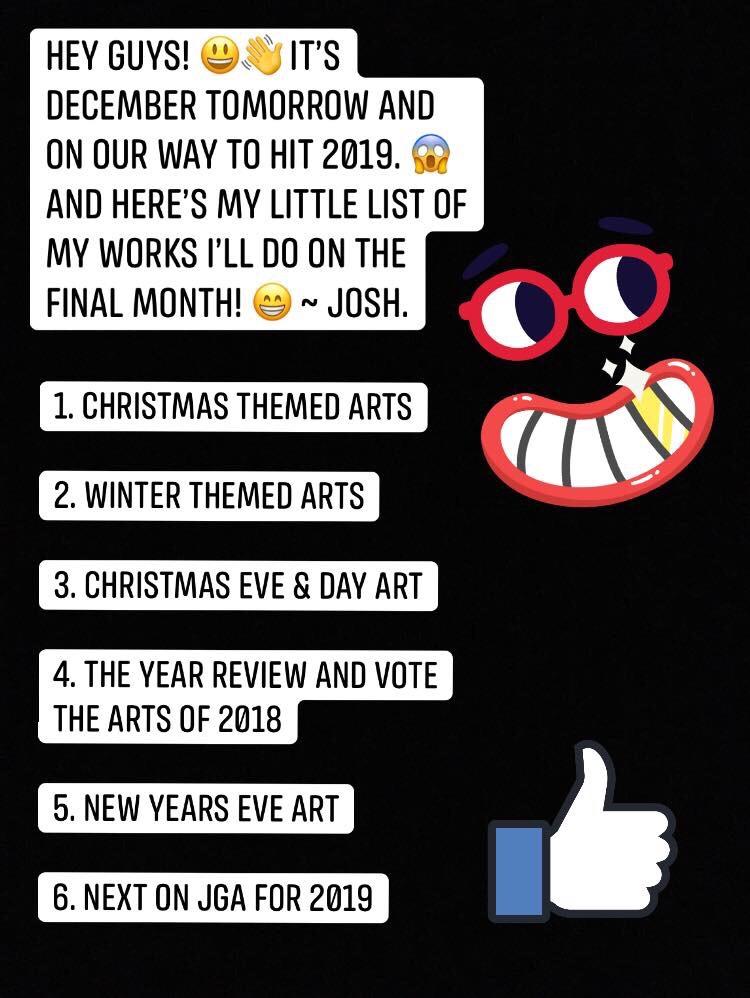 Whats happening in December!  by JoshGarciaArtworks