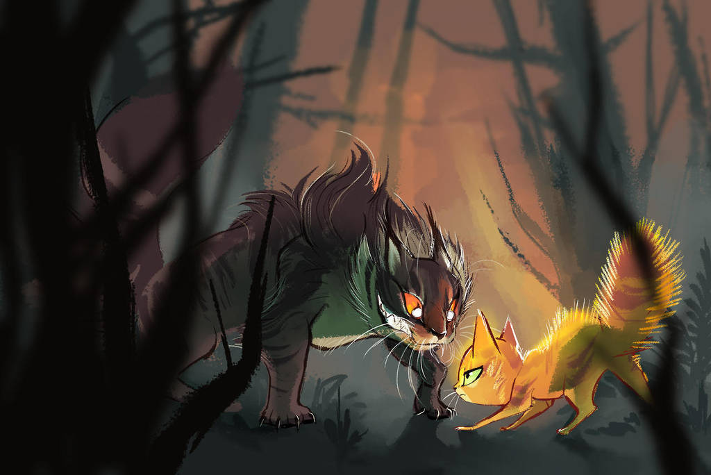 Tigerclaw and Firepaw by Bedupolker