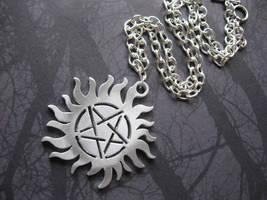 Sun Pentagram Tattoo Necklace by SpellsNSpooks