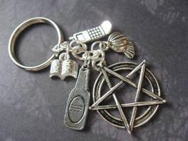 Bobby Singer Keychain by SpellsNSpooks