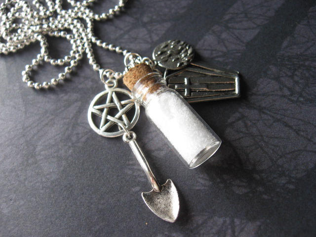 Salt and Burn Necklace by SpellsNSpooks