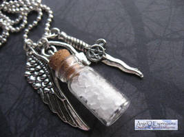 Angels and Demons Salt Vial Necklace by SpellsNSpooks