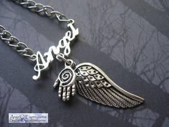 Castiel the Angel Necklace by SpellsNSpooks
