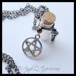 Supernatural Necklace with Tiger's Eye by SpellsNSpooks