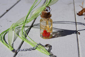 Mini Red Octopus Bottle Charm by ArachRoy