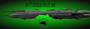 Black Wolf Syndicate BW-77 Centilus Fast Galleon by capriceklasik