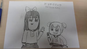 Pop Team Epic But With Actual Expressions by Pinky-Beret