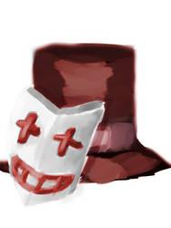 Traein's mask and Hat by traein