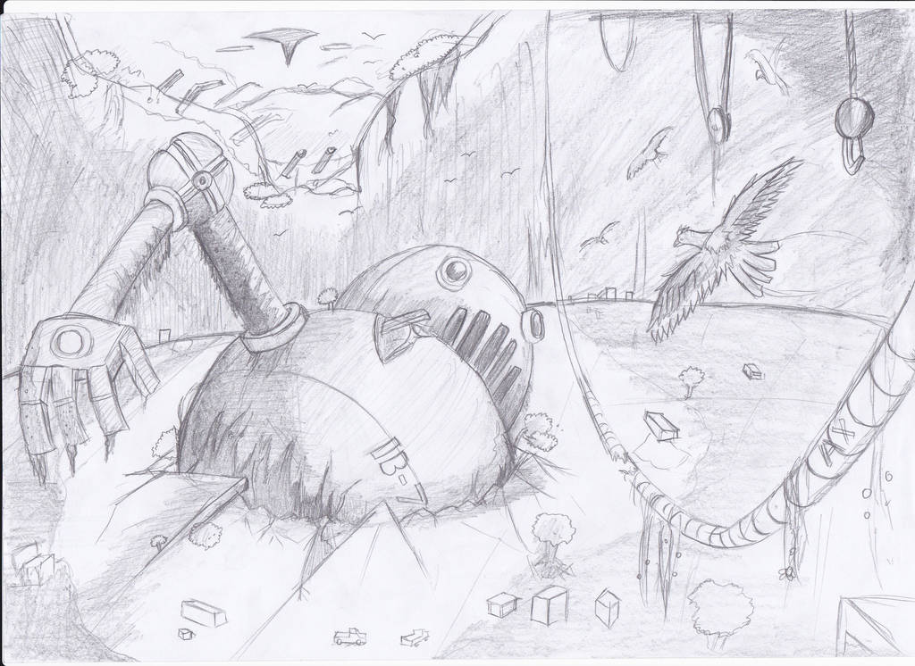 abandoned Big Robots by Masbanart31