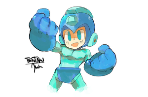 Megaman by Tentakustar