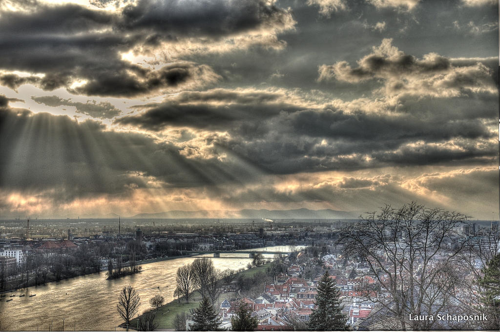Sunset in Heidelberg II by lauchapos