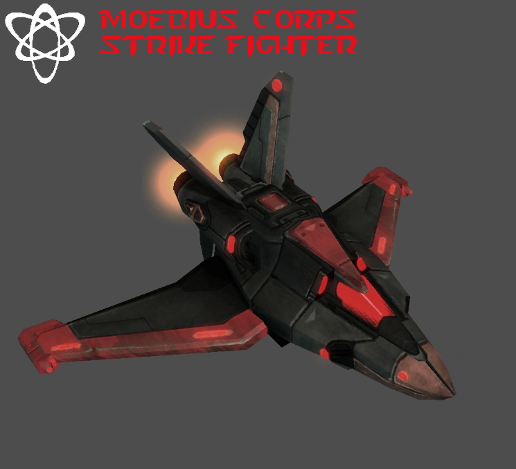 StarCraft 2 - Moebius Corps Strike Fighter by HammerTheTank