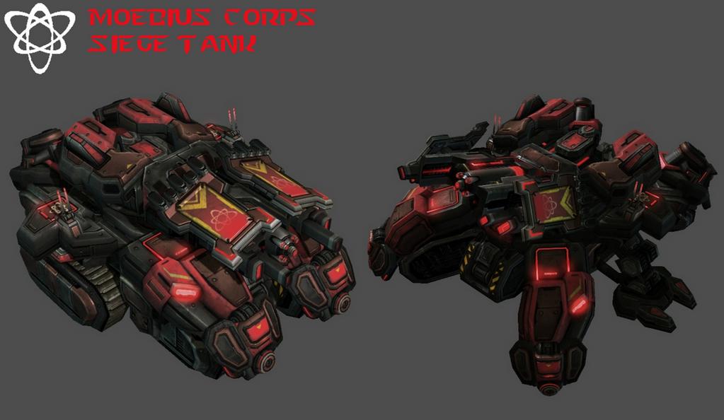StarCraft 2 - Moebius Corps Siege Tank (V2) by HammerTheTank